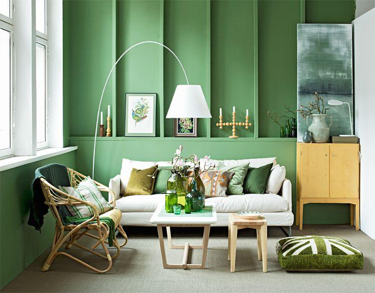 Peaceful green. Styling Anna-Kaisa Melvas. Photo Piia Arnould. Glorian Koti.