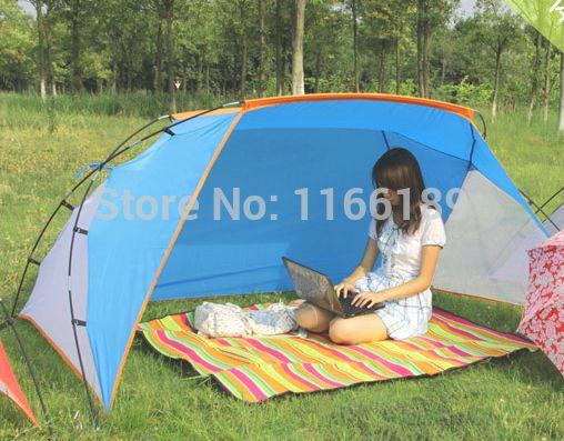 Летняя палатка, тент, защита от солнца и ветра, для пляжа, отдыха на природе. 2-3 местная.  215*170*110cm