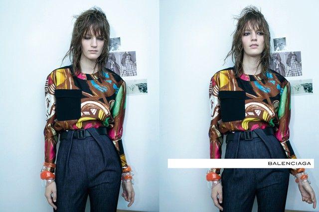 Laura Kampman for Balenciaga Spring 2012 Campaign