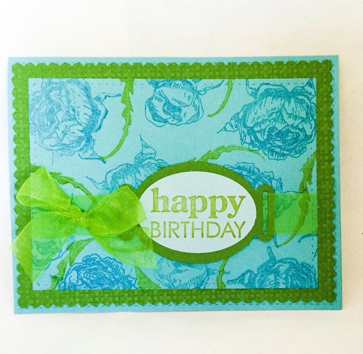 Best 25 Hand made greeting cards ideas – Green Birthday Card
