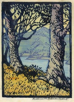 Frances Hammel Gearhart (1869-1958) - Woodblock Print. Circa 1920.
