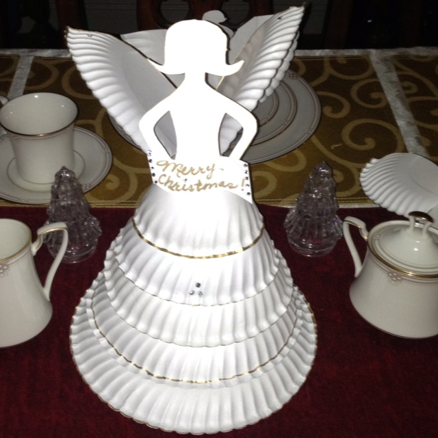 Paper Plate Angel Centerpiece Ward Christmas Party