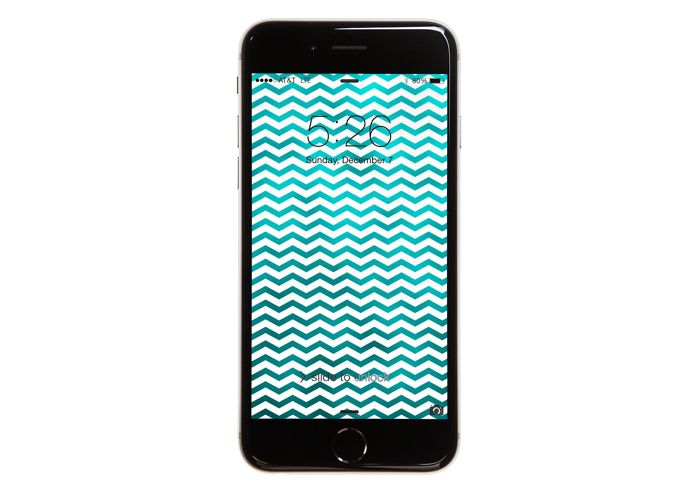 Teal Chevrons Free Wallpaper For iPhone 5 + 6