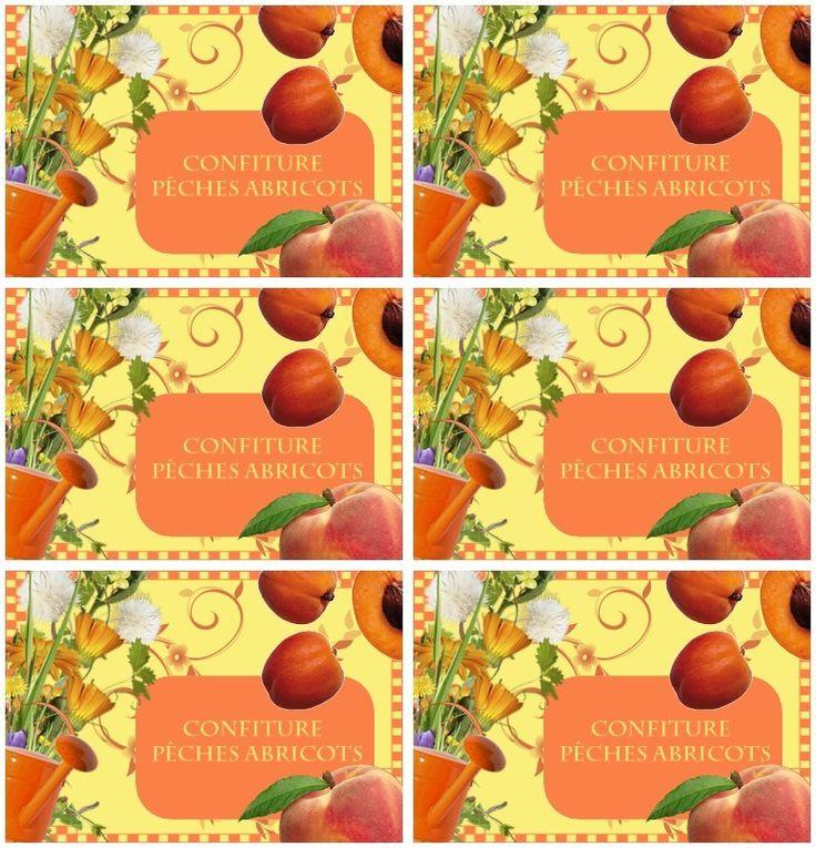 Etiquettes confiture p ches abricots etiquettes etiquette confiture confiture peche confiture - Confiture d abricots maison ...