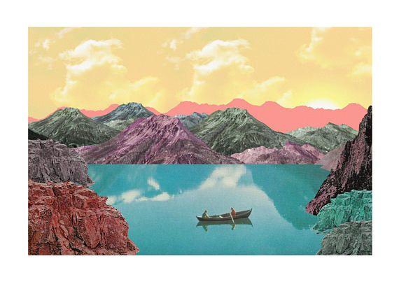 Row  Collage Art Print