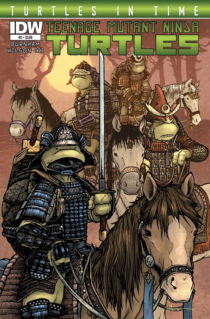 Teenage Mutant Ninja Turtles: Turtles in Time #2 (of 4) Erik Burnham(w) • Charles Paul Wilson III (a) • David Petersen (c)  The Turtles' journey through time continues, and the next stop is Feudal Japan! The Turtles will meet some familiar faces and be forced to make one of the most important decisions of their lives. Will stopping the Shredder mean the end of the Turtles as we know them?  FC • 32 pages • $3.99