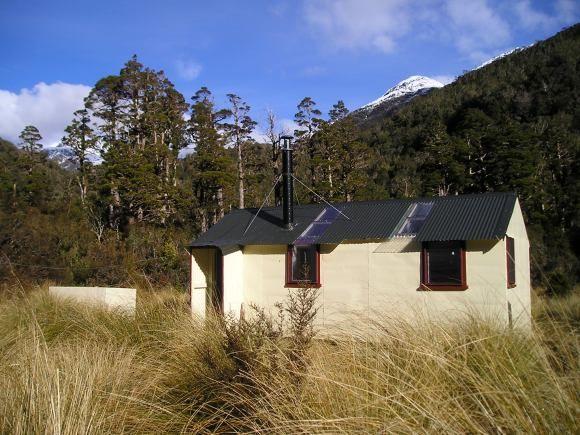 Cedar Flat Hut, West Coast, New Zealand. #dochuts