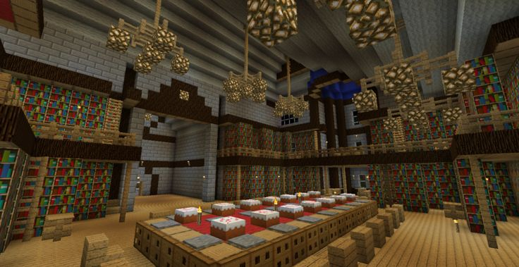 Minecraft Castle Interior Minecraft Ideas Pinterest