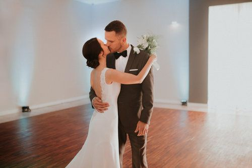 wedding photography, first dance with the bride and groom