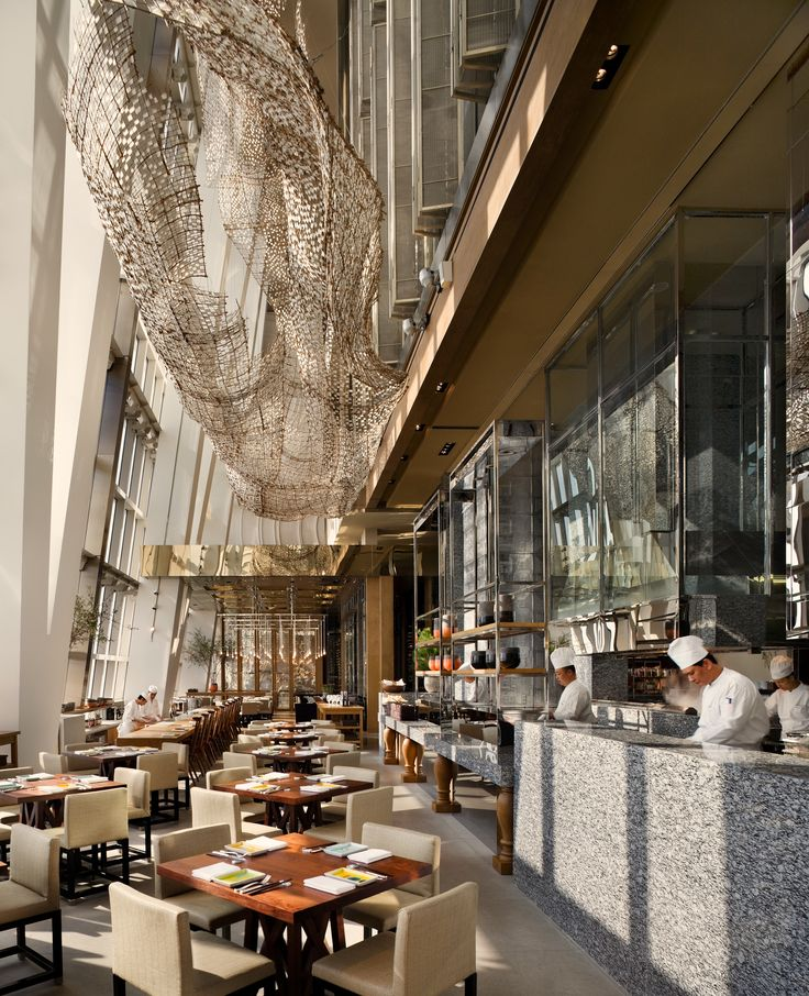 | Shanghai Park Hyatt | ADD | Double height space | Display Kitchen | #Shanghai #DesignShanghai