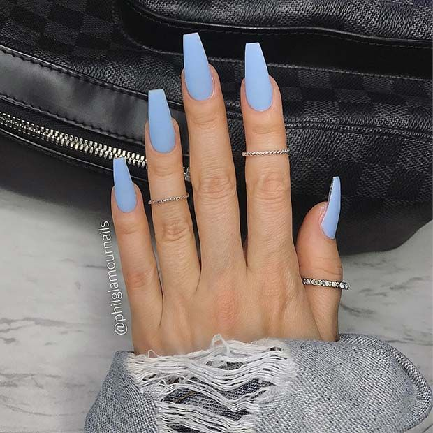 23 Chic Blue Nail Designs You Will Want to Try ASAP