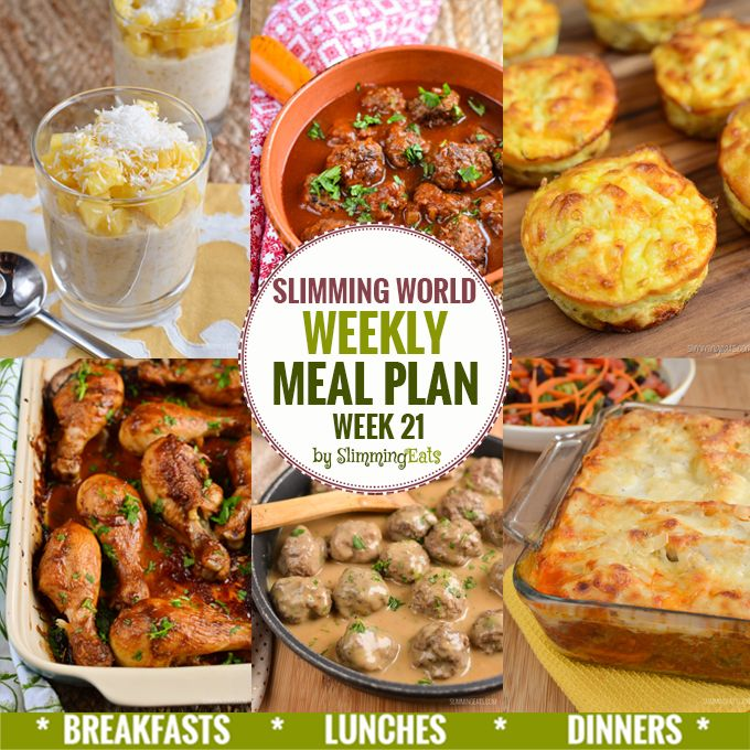 Slimming Eats Weekly Meal Plan - Week 21 - Slimming World recipes, taking the work out of planning, so that you can cook and enjoy the food.