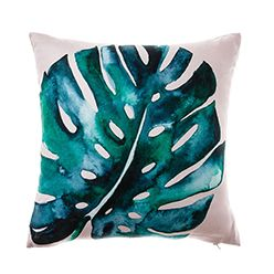 Featuring striking botanical images in lush green, the Gardenia cushions…