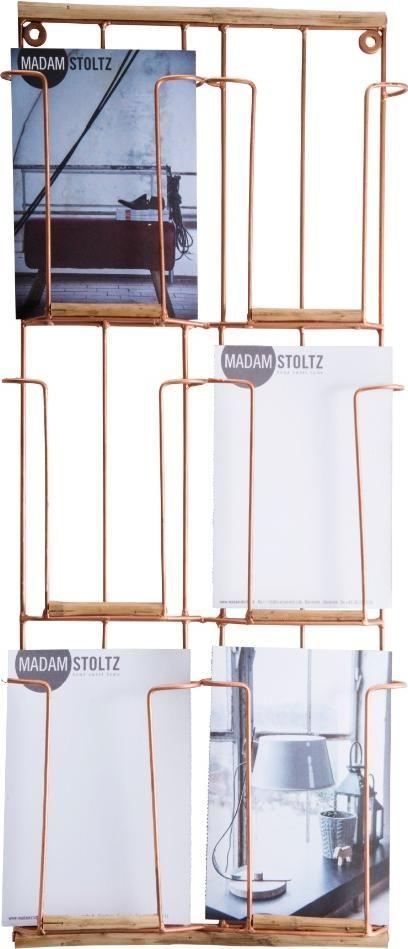 Stehlampe Holz Von Madam Stoltz ~ Madam Stoltz Kartenhalter Kupfer  Madam Stoltz bei Bertine  Living