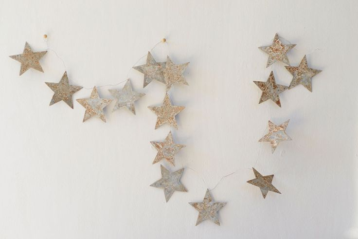 Rustic Tin Star Garland