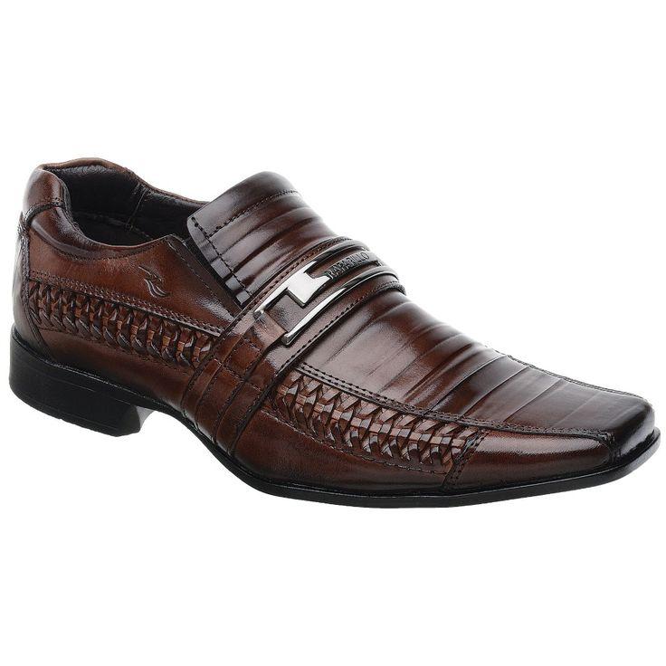 Sapato Rafarillo Las Vegas em Couro Mogno com Solado em Borracha 7899 - FKV Calçados