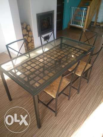 Stół szklany IKEA + 5 Krzeseł Żukowo - image 2