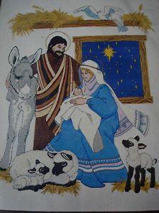Vtg 1981 Dimensions Crewel Kit 8001 Nativity Scene Baby Jesus Mary Joseph | eBay