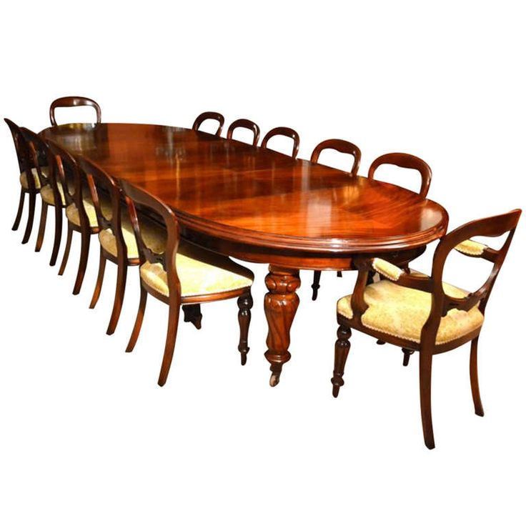 1stdibs Antique 12ft Victorian Dining Table 12 Chairs C 1860 Perfect For The