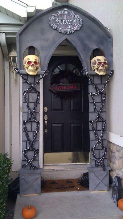 40 Cool Halloween Front Door Decor Halloween in 2018 Pinterest