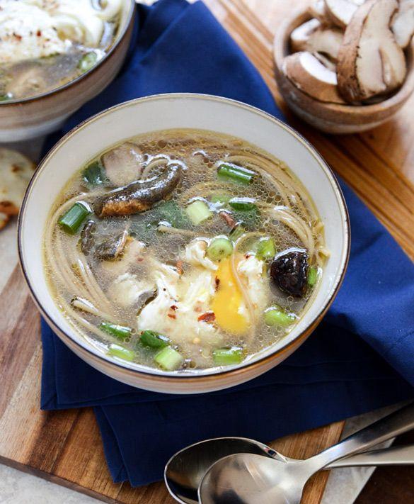 Mushroom Chicken Soup Noodle | Hunger & Thirst | Pinterest