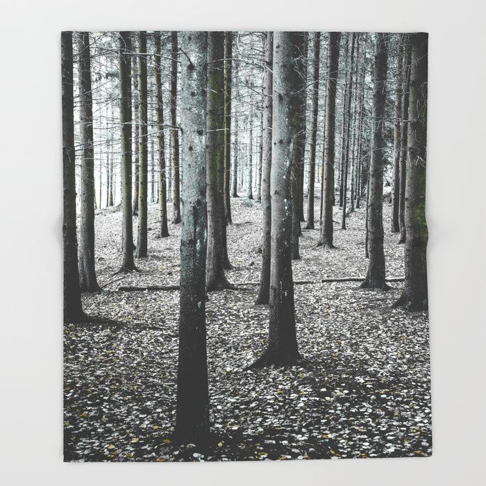 Coma forest Throw Blanket