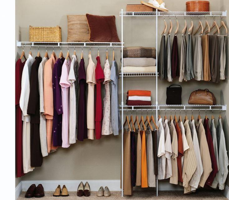 Closet Organizer Shelves Shelf System Rack Home Storage Clothes Wardrobe Hanger #ClosetMaid
