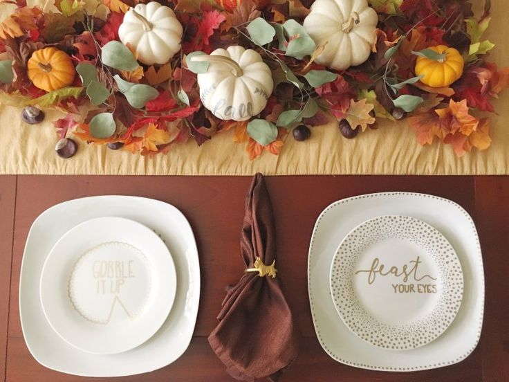 Easy #DIY Thanksgiving Plates!