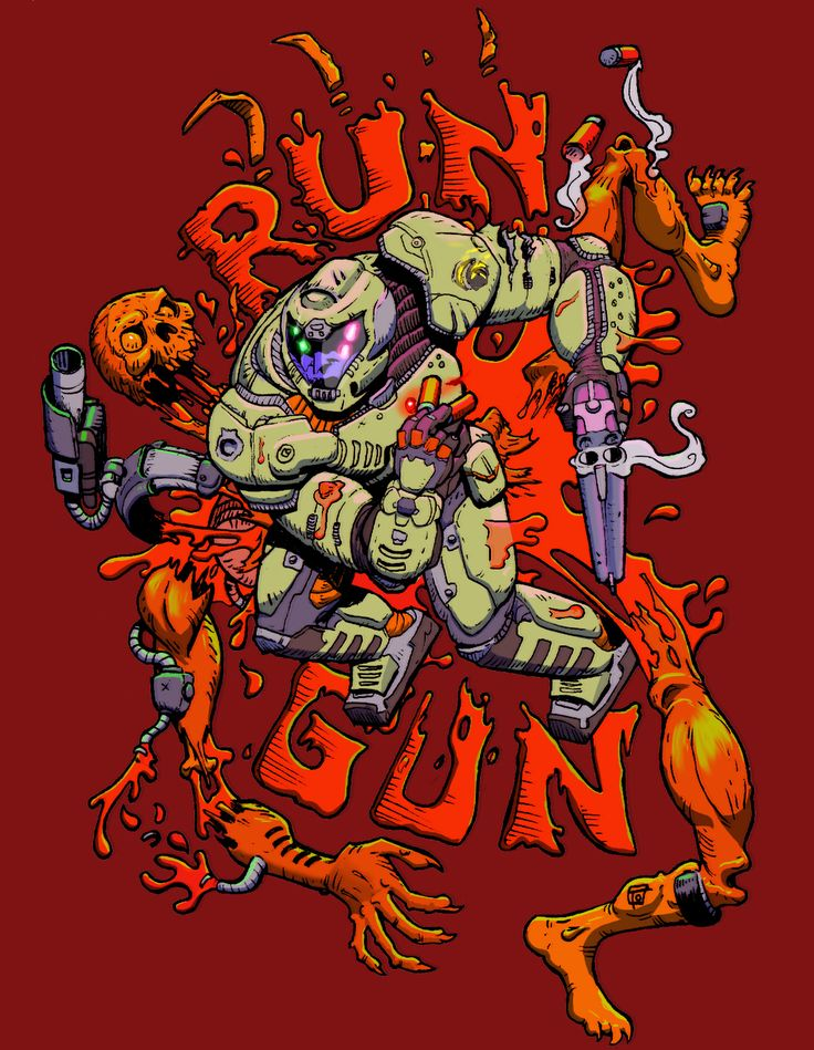 Run 'N' Gun DOOM fanart