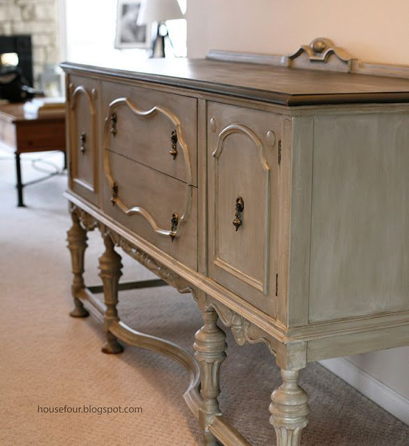 Chalk paint linen and dark wax by sonya