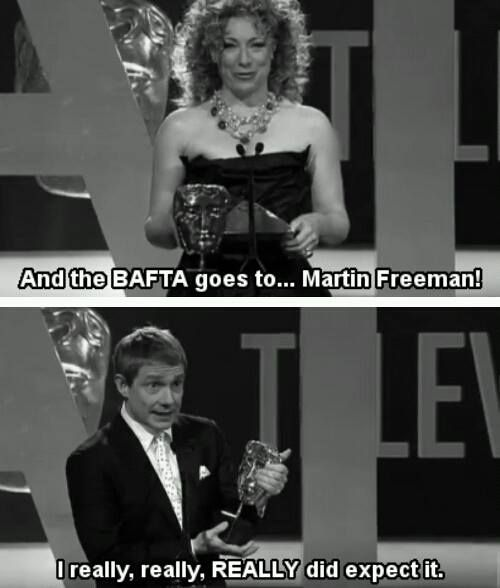 Martin Freeman is the best. To me I see River giving Watson an award XD