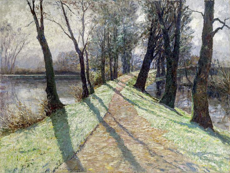 Olga Wisinger-Florian (Austrian, 1844–1926), Der erste Reif [The First Frost], 1906. Oil on canvas, 101.5 x 134.5 cm.viaamare-habeo