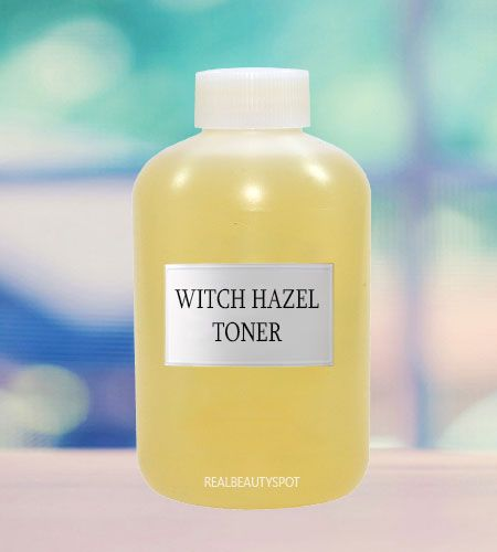 Witch Hazel and apple cider vinegar toner Mix 3 parts of water with 2 parts of witch hazel and one part of apple cider vinegar. Mix it well and then store it in a spray bottle. Using a cotton pad, use this toner 2 times a day. This toner will minimize the pore size and will also absorb excess oil as it has anti- inflammatory benefits. Not only this, you will also notice tightening of your skin with regular usage.