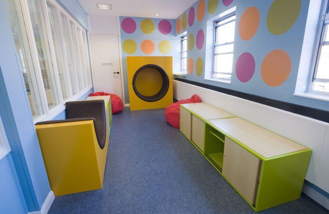 Childrens room with storage and fun seating; picture 6 of 10