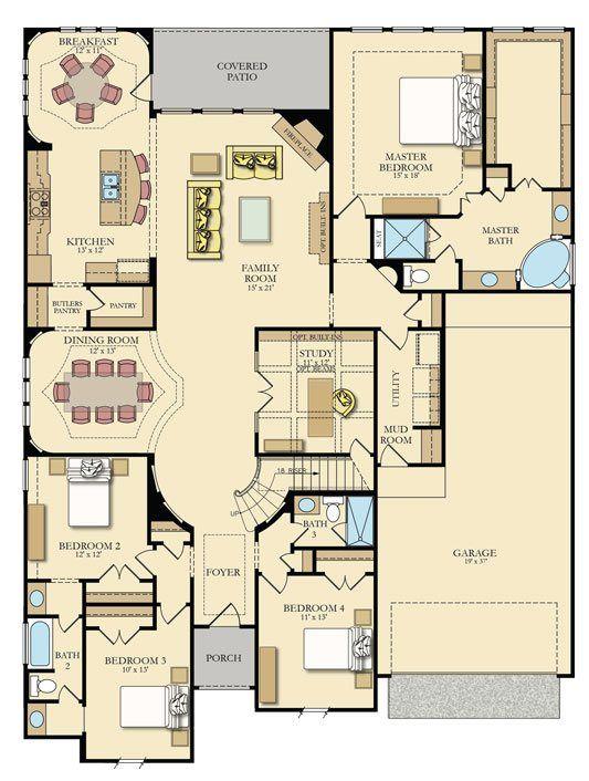 Preston | Village Builders. Southern Trails, Pearland, Tx.  $420k. 3400 sq ft