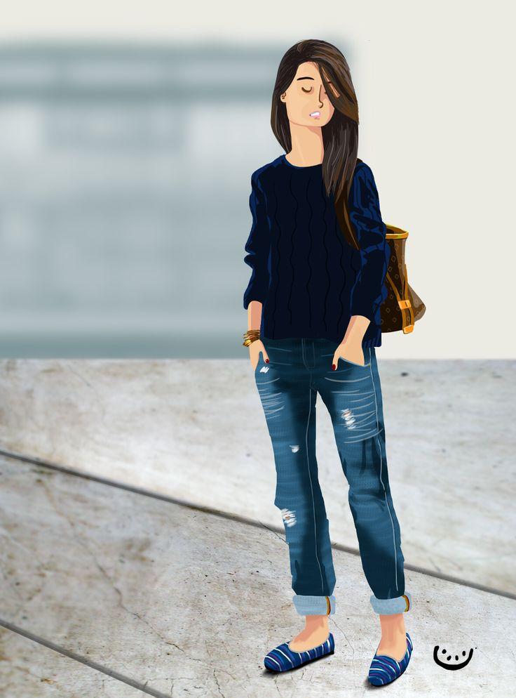 #Personalwork #illustration  #streetstyle  #lady  Sergio D Doria