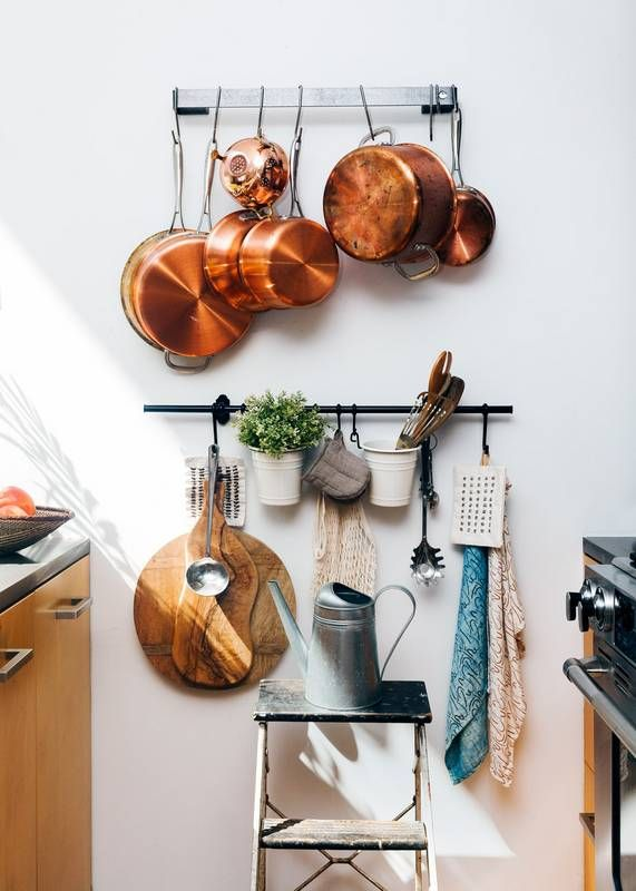 14 Ways to Organize a Tiny Kitchen | Hanging Hooks