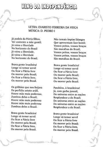 PROJETO ESCOLAR: 7 DE SETEMBRO: A ESCOLA PROCLAMANDO A INDEPENDÊNCIA DO BRASIL…