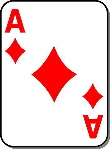 Playing Card, Ace, Diamond, Casino