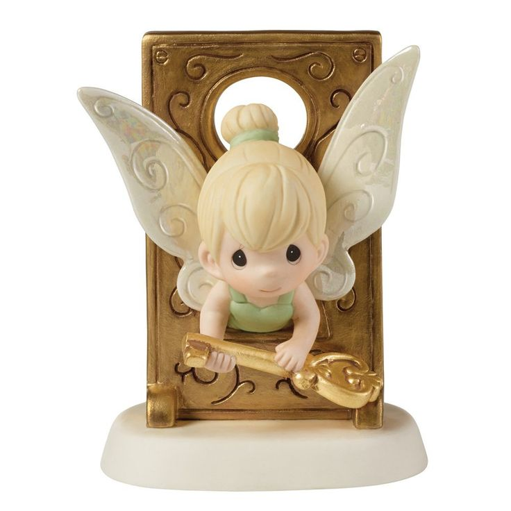Amazon.com: Precious Moments Tinker Bell in Key Hole Figurine