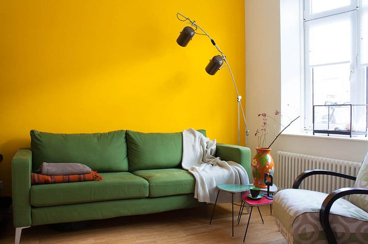 Accent Wall in a sunny space.