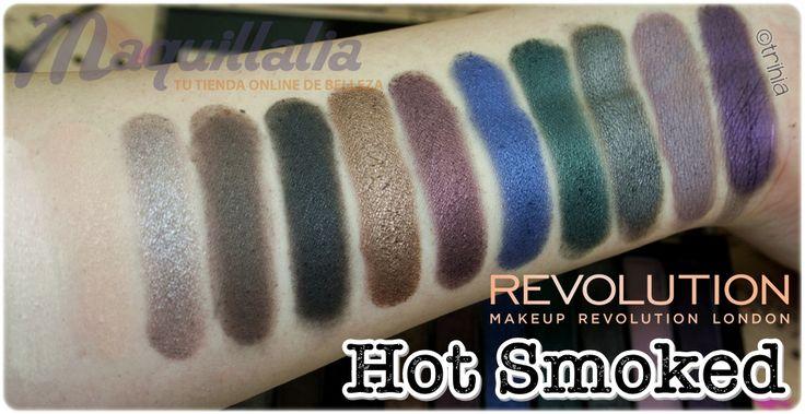 09 MAKEUP REVOLUTION Paletas de sombras Hot Smoked y Romantic Smoked