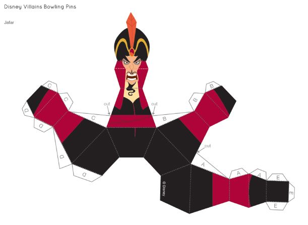 Disney Villains Bowling Pins Jafar