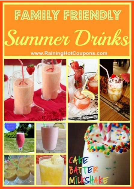 11 Summer Drink Recipes (Family Friendly) Smoothies, Milkshakes, Whips, Lemonade and more!