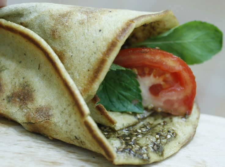 "Lebanese flatbread or ""za'atar man'oosheh"" This makes 10 ..."
