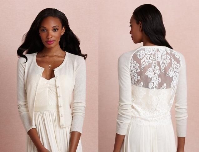 BHLDN Ondine Wedding Cardigan in Cashmere and Lace on www.DressSafari.com. Perfect for fall or winter brides!