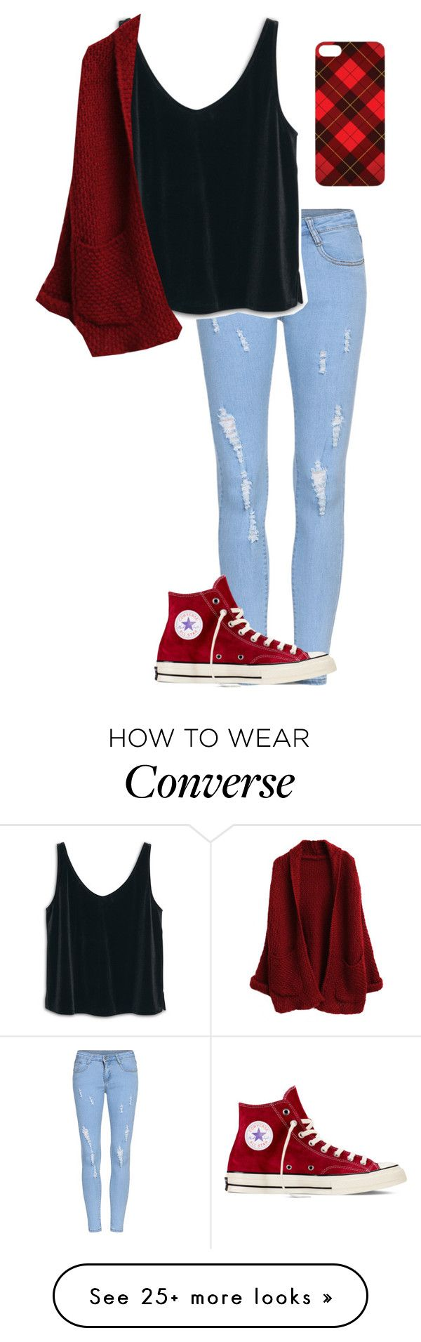 """Chilling At Home"" by vlhuerta on Polyvore featuring MANGO and Converse"