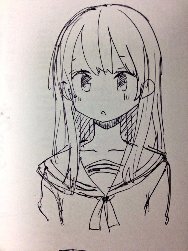 Картинки из аниме связанные для срисовки