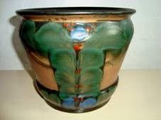 DANICO urtepotteskjuler/flowerpot H: 16 cm D: 18,5 cm. År/year 1919-29. Sign: DANICO 844. #Danico #flowerpot #Danish #ceramics #urtepotteskjuler #dansk #keramik www.Klitgaarden.net