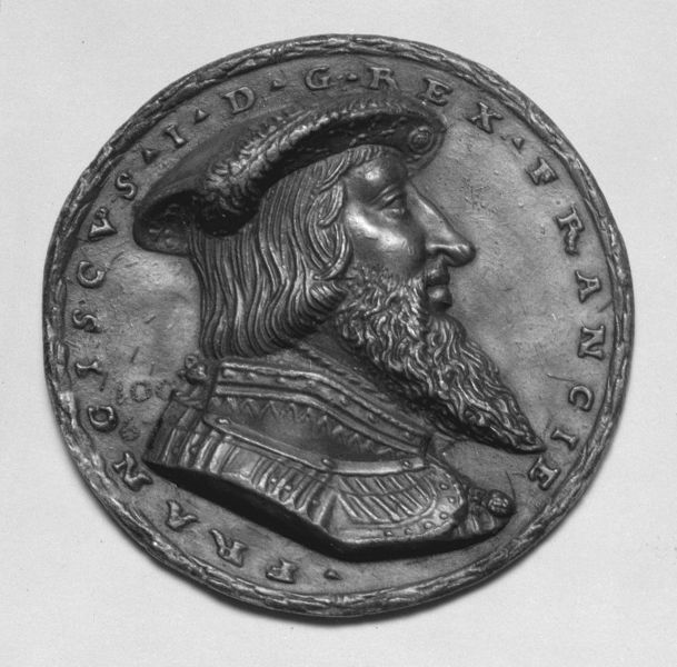 François I, King of France by Matthes Gebel, Germany, ca. 1530-1538. l Victoria and Albert Museum #Novembeard